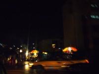 étals dans la nuit à Yaoundé