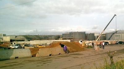 zone industrielle à Douala